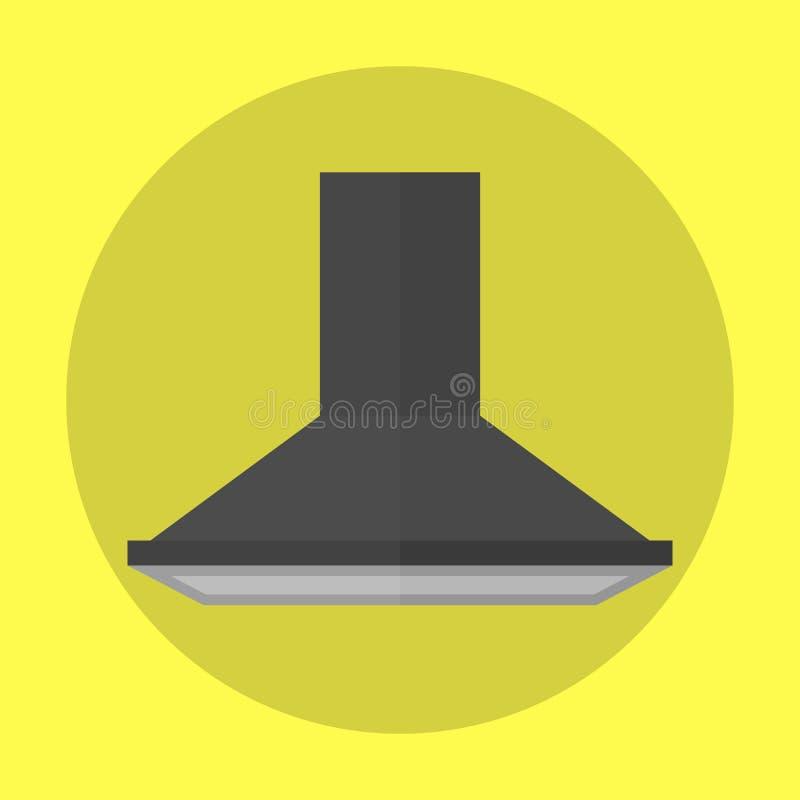 Exhauster αέρα σύγχρονο εδαφοβελτιωτικό αναρροφητήρων εξολκέων συσκευών ανεμιστήρων κουζινών και ανοξείδωτος σύγχρονος φίλτρων εξ διανυσματική απεικόνιση