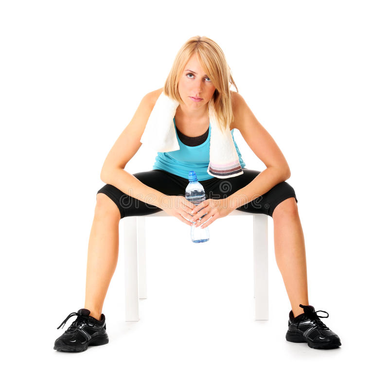 Download Exhausting workout stock image. Image of bottle, caucasian - 22149363