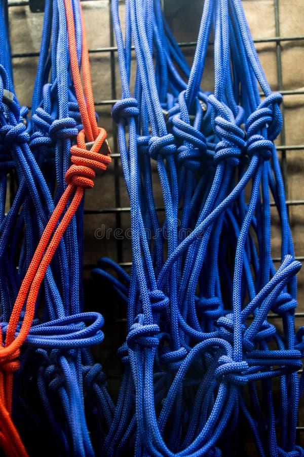 Exhibición colorida de la cuerda imagenes de archivo