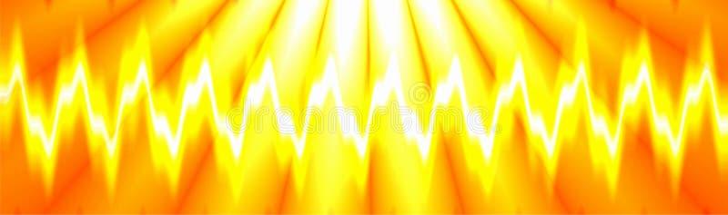 Exhibición colorida de la onda acústica del club nocturno de la música, diseño generado por ordenador stock de ilustración