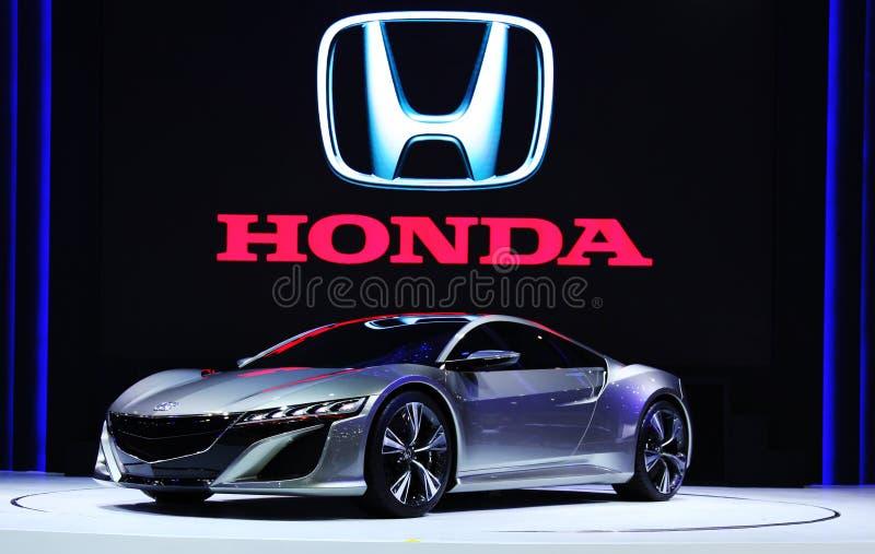 Exhibición de Honda NSX en etapa fotografía de archivo libre de regalías