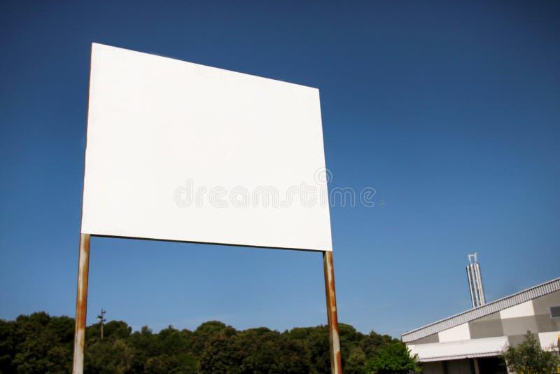 Exhibición de la cartelera de publicidad del espacio en blanco de la calle, tabla del aviso Agencias de publicidad foto de archivo libre de regalías
