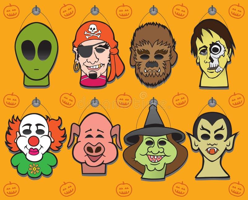 Exhibición de la máscara de Halloween libre illustration