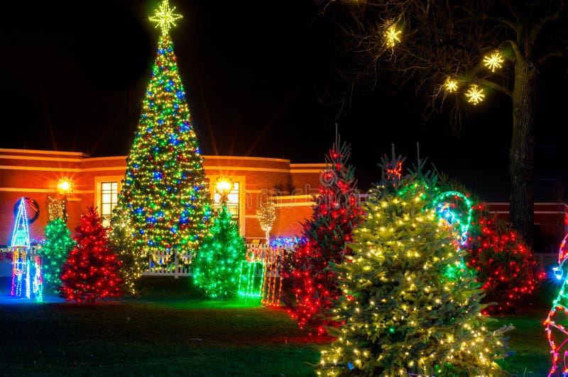 Exhibición de la Navidad del pueblo imagen de archivo