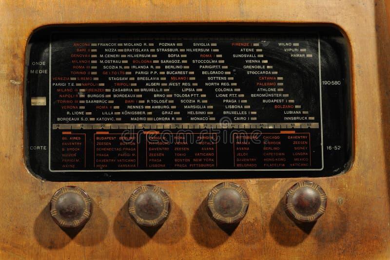 Exhibición de radio fotografía de archivo