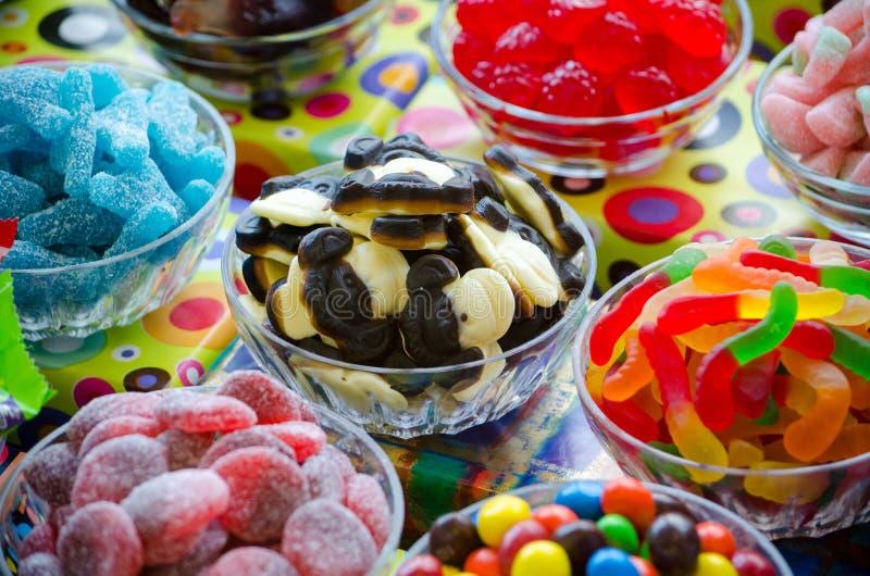 Exhibición del caramelo de penique fotos de archivo