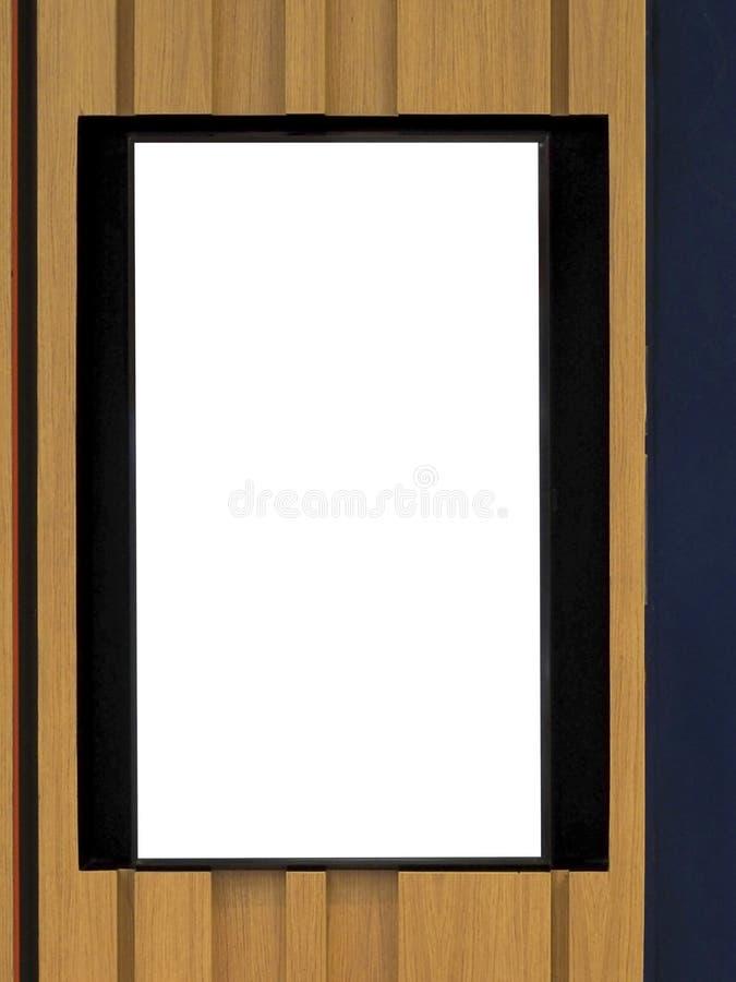 exhibición en blanco de la bandera, venta fotografía de archivo libre de regalías