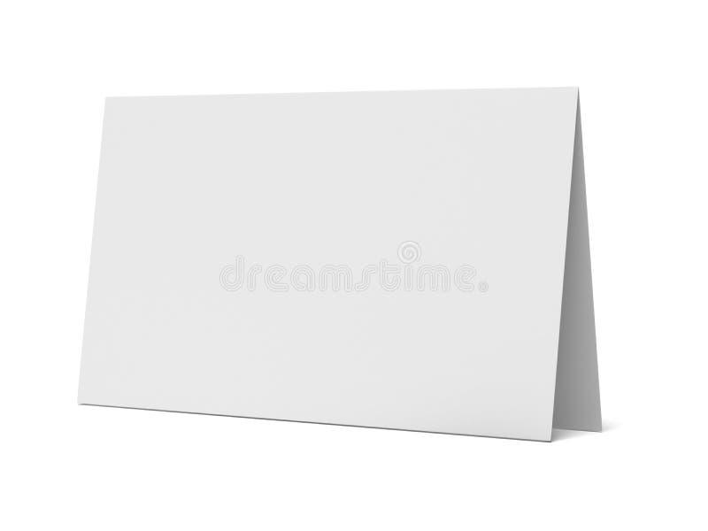 Exhibición en blanco del escritorio ilustración del vector