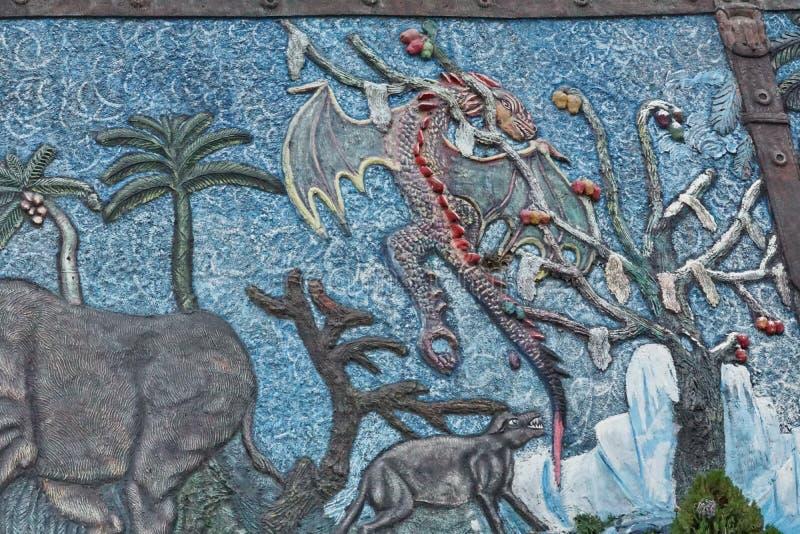 Exhibición en un museo de la paleontología imágenes de archivo libres de regalías