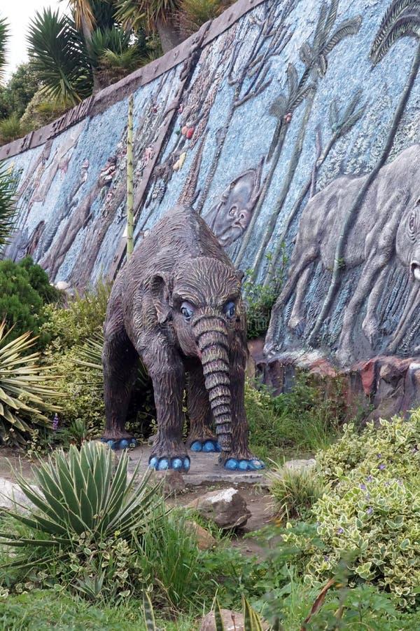 Exhibición en un museo de la paleontología fotografía de archivo libre de regalías