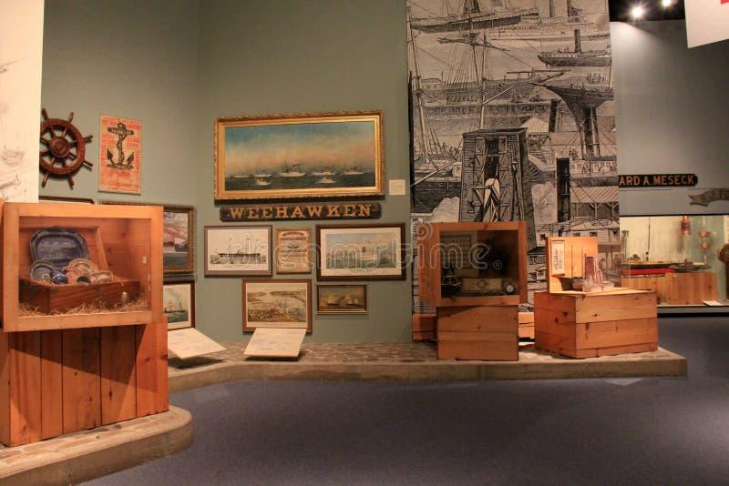 Exhibición extensa en la historia del envío, museo del estado, Albany, 2016 fotografía de archivo libre de regalías