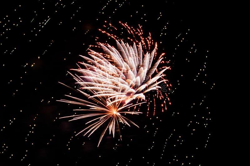 Exhibición ligera brillante de los fuegos artificiales fotos de archivo libres de regalías