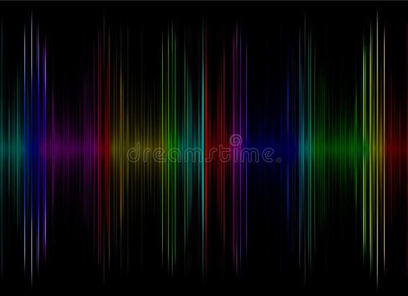 Exhibición multicolora del equalizador de los sonidos como fondo abstracto ilustración del vector