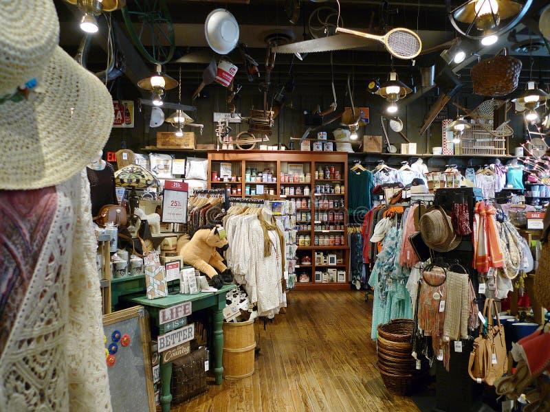 Exhibiciones del restaurante del barril de la galleta en la tienda, Tulsa, AUTORIZACIÓN imágenes de archivo libres de regalías