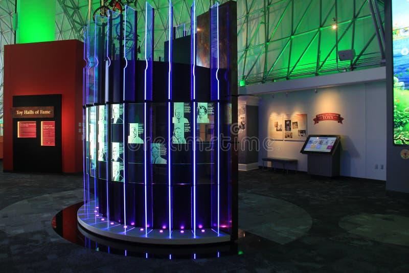 Exhibiciones y objetos expuestos extensos en el museo fuerte, Rochester, Nueva York, 2017 fotografía de archivo libre de regalías