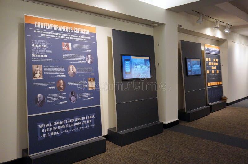 An exhibit about Woodrow Wilson's Legacy at Princeton University. PRINCETON, NJ -4 APRIL 2016- An exhibit revisiting the legacy of Woodrow Wilson at Princeton royalty free stock photos