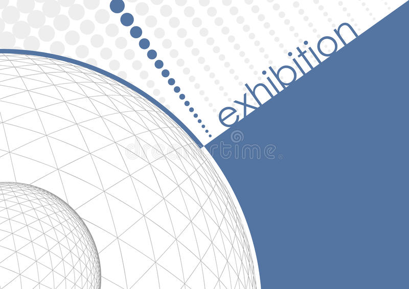 Exhibition. Brochure design in clean style royalty free illustration