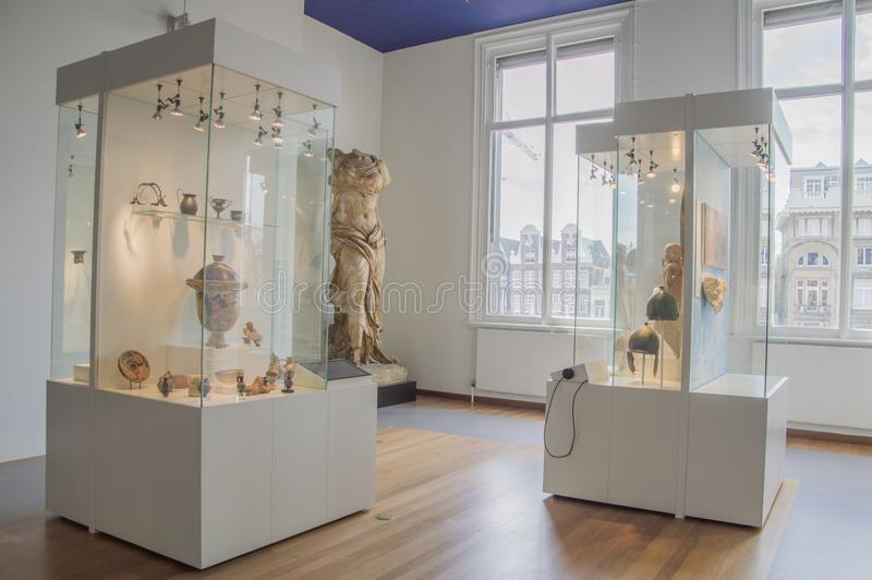 Exhibition At The Allard Pierson Museum At Amsterdam The Netherlands stock photo