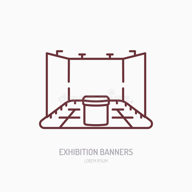 Simple Exhibition Stand Vector : Exhibition banner stand vector line icon advertising sign