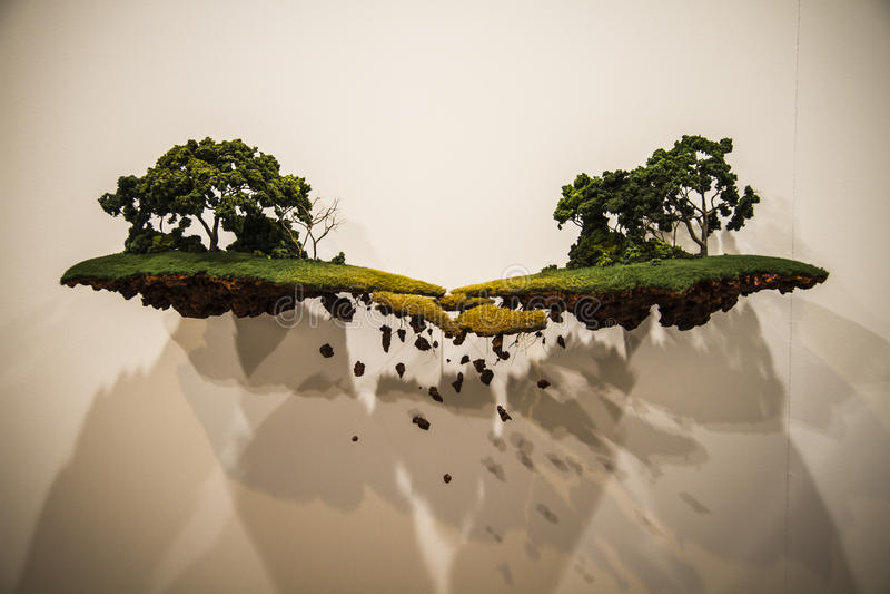 Exhibition.Begin 2014 ARCO, el arte contemporáneo internacional F imagen de archivo libre de regalías