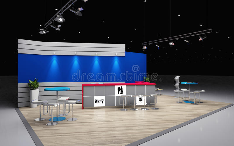 Exhibition Booth Free Download : Exhibition booth stock illustration of