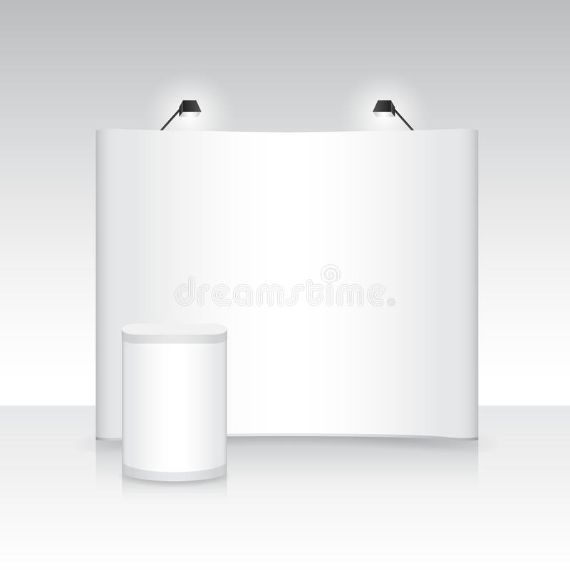 Marketing Exhibition Stand Vector : Exhibition booth display stand fair kiosk stock vector