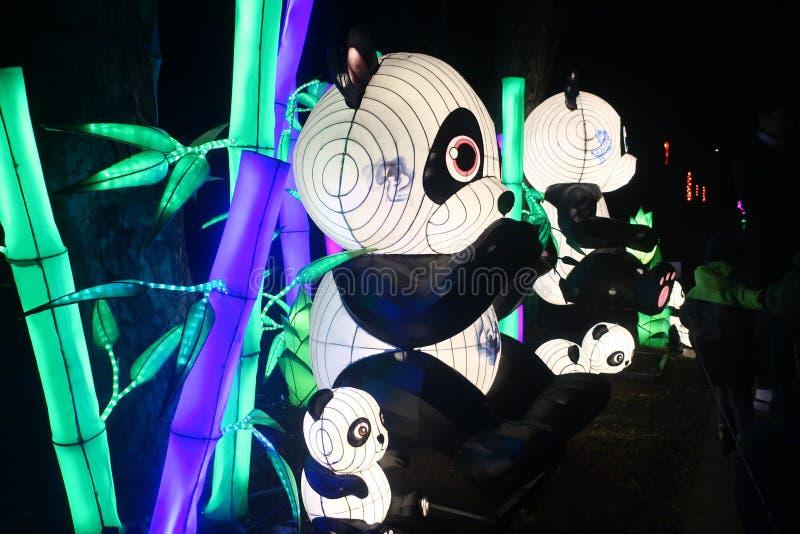 Exhibition of Chinese lanterns stock photo
