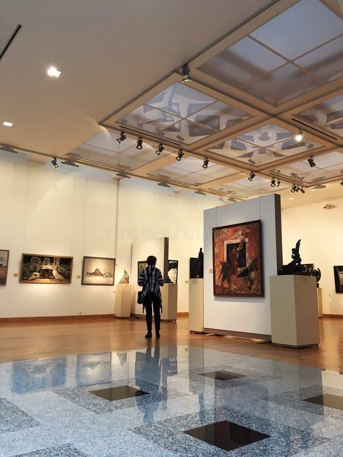 Exhibition of contemporary art stock photos