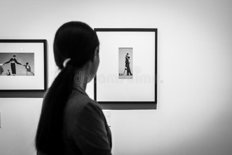 Exhibition in the eyes of the mother royalty free stock images