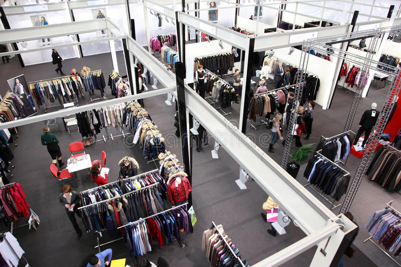 Exhibition hall on CPM Collection Premiere stock photography