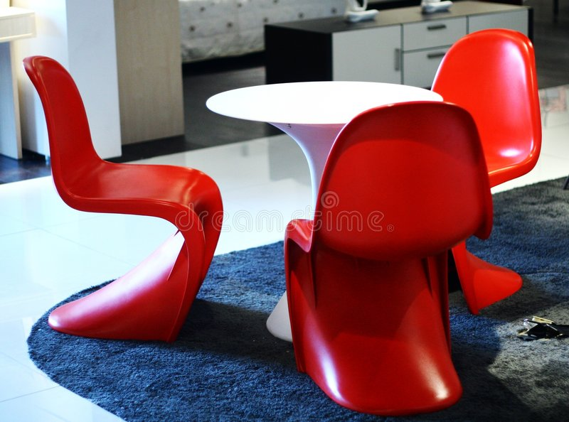 In exhibition hall furniture royalty free stock images