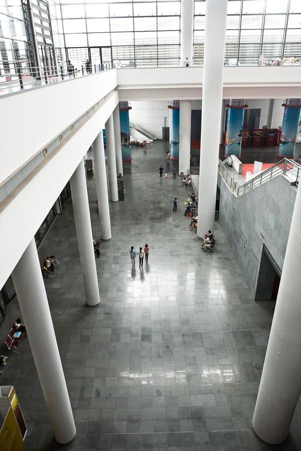 The exhibition hall interior stock photos