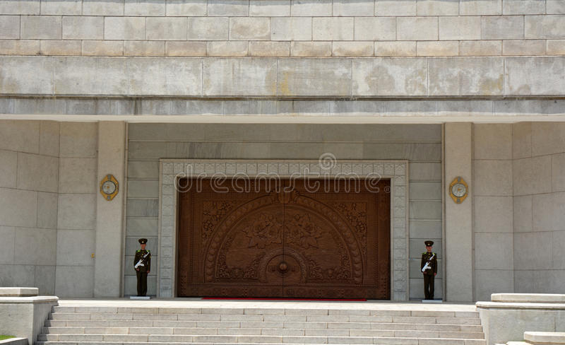 Exhibition Hall, Myohyang Mountain, North-Korea royalty free stock photos