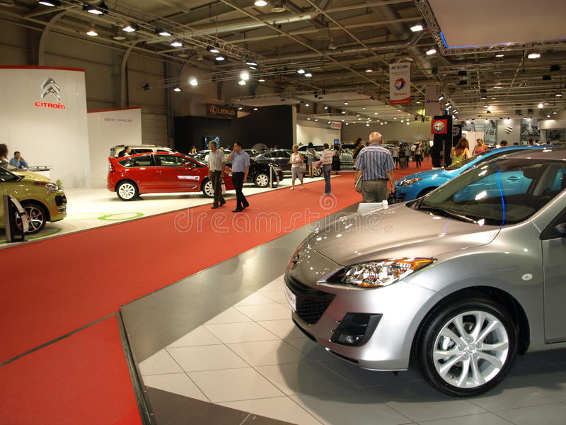 The exhibition hall of Sofia Motor Show royalty free stock photo