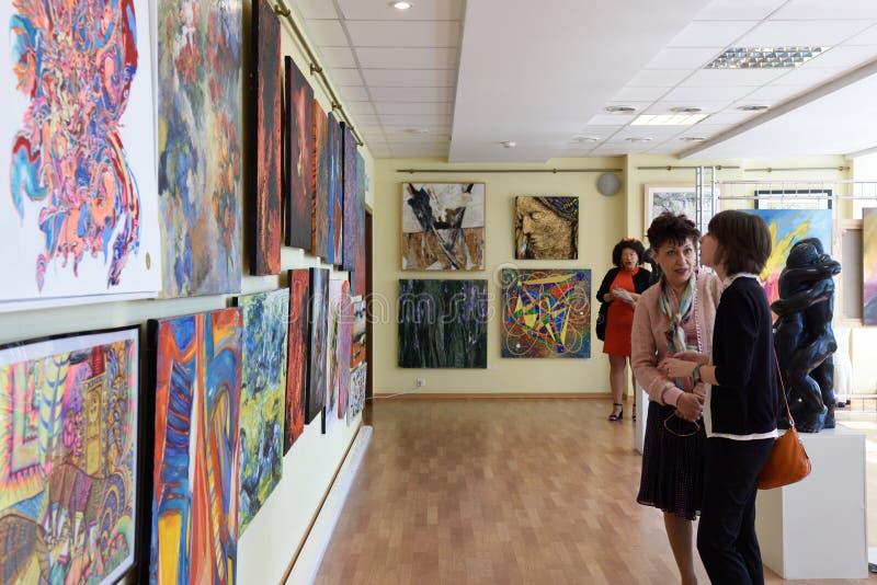 Exhibition of modern art stock photo