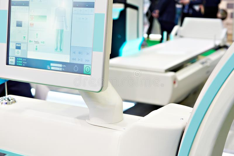 Exhibition of medical equipment. Exhibition of modern medical equipment stock images