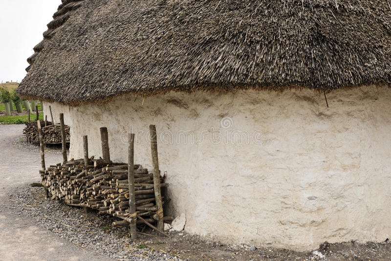 Download Exhibition Neolithic House At Stonehenge Salisbury Wiltshire England With Hazel Thatched Roof