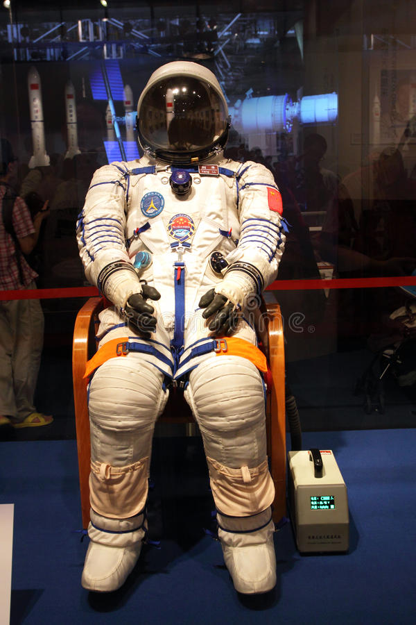 Free Exhibition On China S Manned Space Docking Missio Stock Photos - 26214353