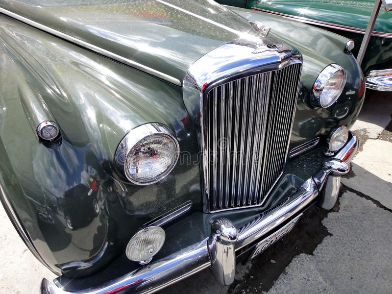 Exhibition of retro cars. Car `Bentley S2`, year of manufacture 1962, capacity 175 HP, Great Britain. stock images