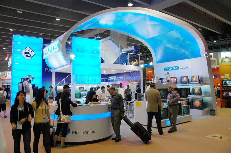 Exhibition Sections of Electronics & Household. The 105th session of China Import and Export Fair, is held in April 15th-May 7th,2009. It has 3 phases.(Phase1 royalty free stock photos