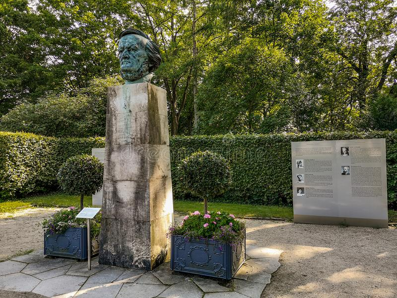 Exhibition silent voices in the Festival Park of Bayreuth royalty free stock images