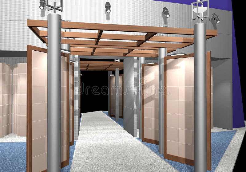 Exhibition stand vector illustration