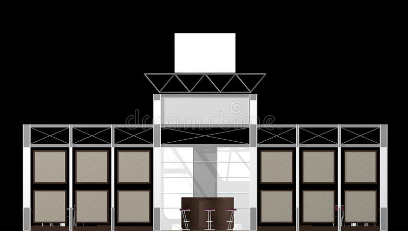 Download Exhibition stand stock illustration. Image of graphic - 13837836