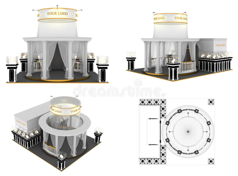 Download Exhibition stand stock illustration. Image of indoor - 20720925