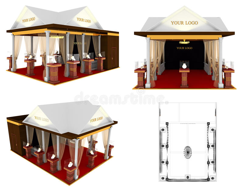 Expo Exhibition Stands Xl : Exhibition stand stock illustration of expo