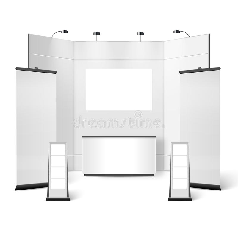Exhibition Stand Design Illustrator : Exhibition stand blank design stock vector illustration