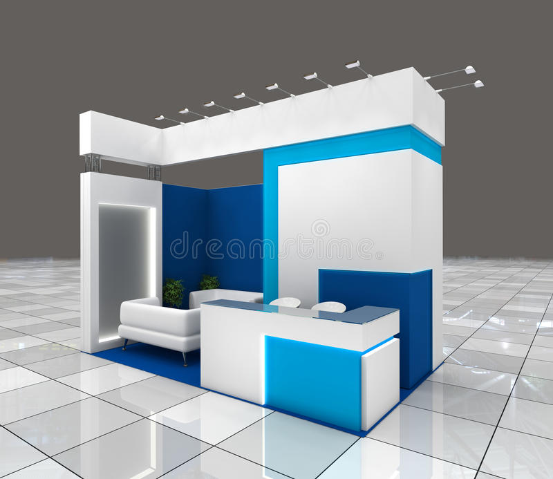 Small Exhibition Stand Goal : Exhibition stand design stock illustration