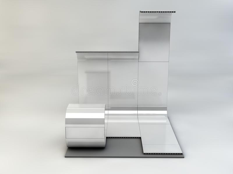 Exhibition stand stock image