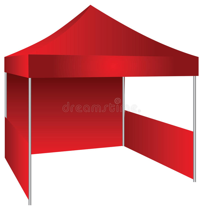 Exhibition tent. The concession stand in the form of a canopy with possible use as an exhibition canopy. Vector illustration royalty free illustration