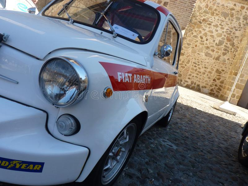 Exhibition of vintage cars, February 24, 2018 in Talavera de la Reina, Spain. Exhibition of vintage cars, Seat 600 Abarth, February 24, 2018 in Talavera de la stock photo
